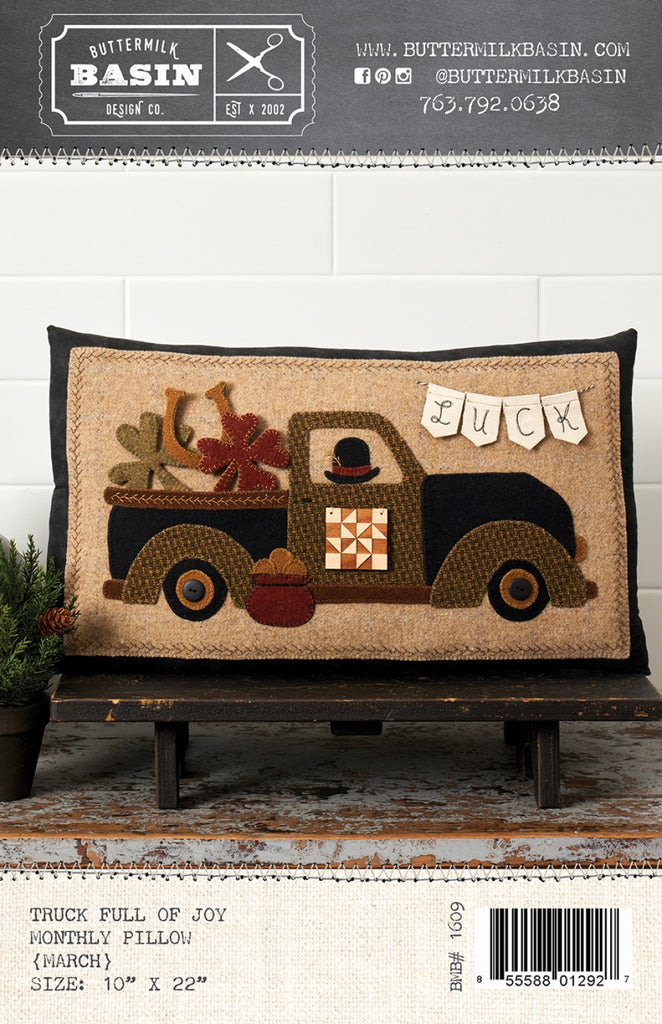 Truck Full of Joy Monthly Pillows March