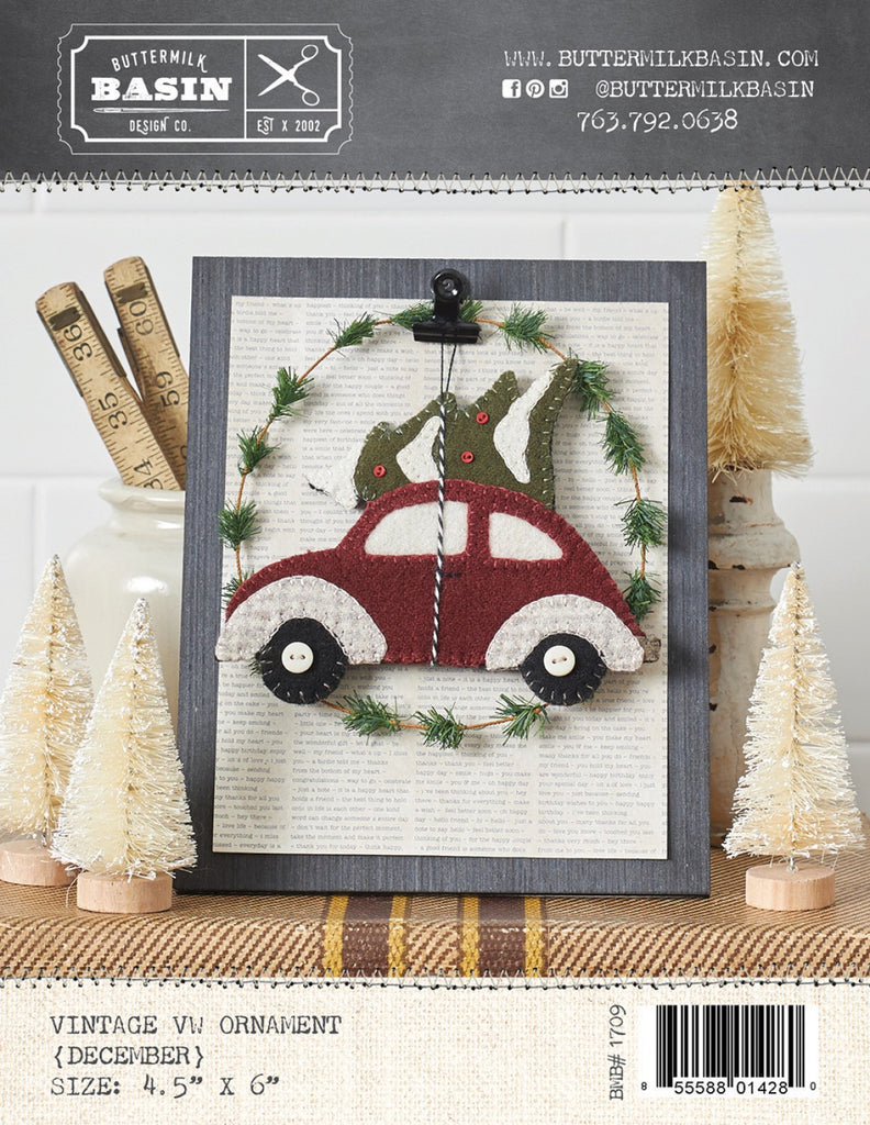 Vintage December VW Ornament