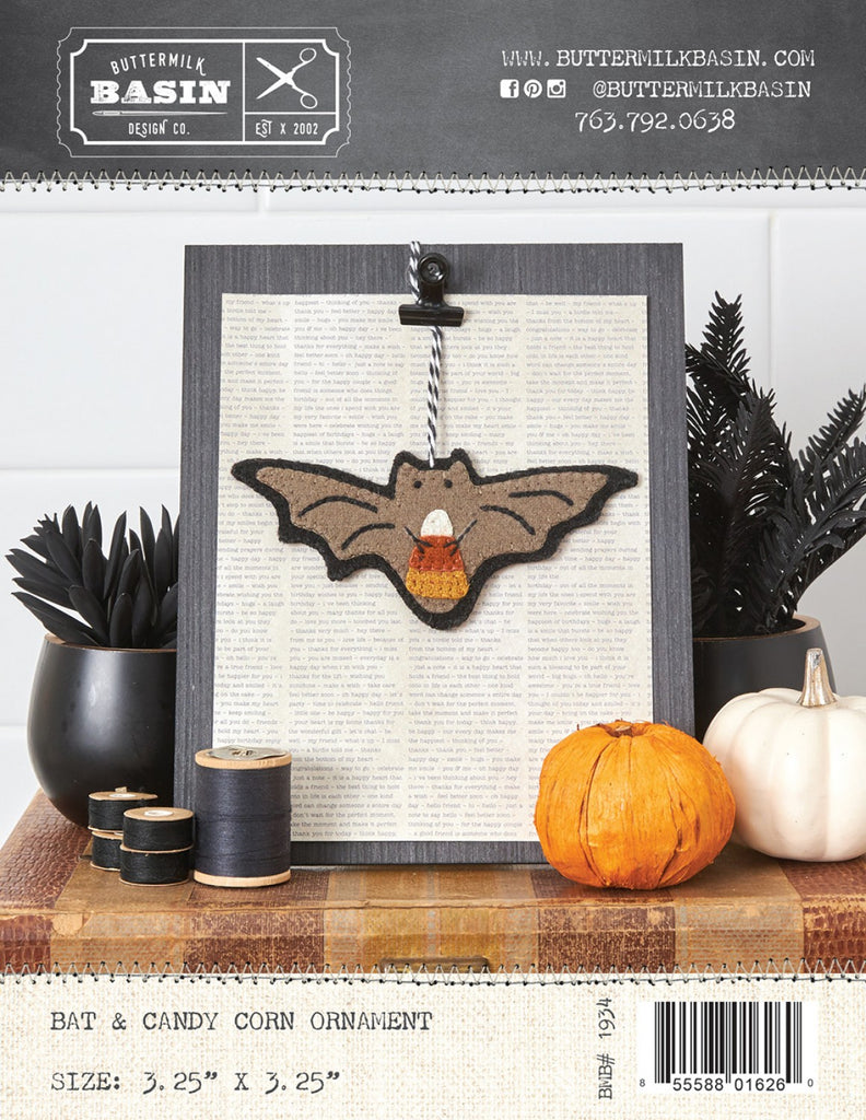 Bat & Candy Corn Ornament