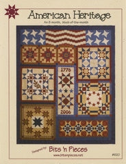 American Heritage - 8 Month Block of the Month in one pattern