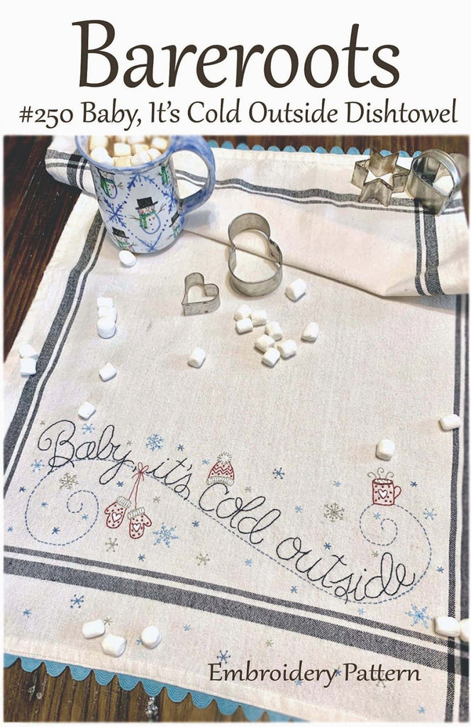 Baby, It's Cold Outside Embroidery Dishtowel Pattern