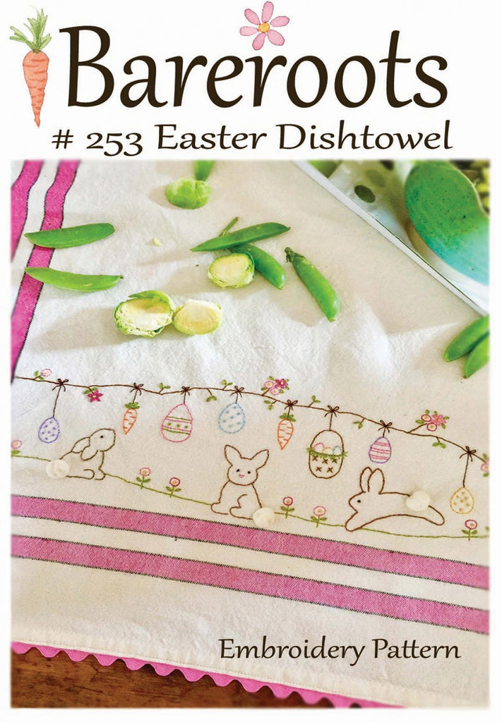 Easter Embroidery Dishtowel Pattern
