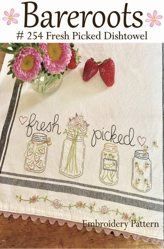 Fresh Picked Dishtowel Embroidery Pattern