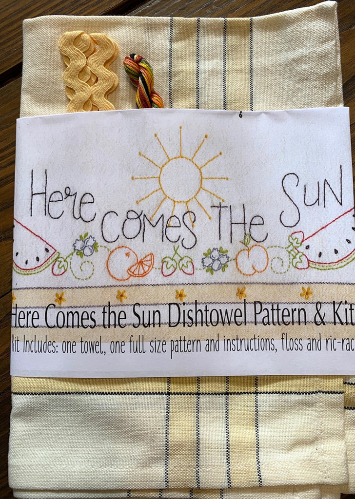 Here Comes the Sun Dishtowel Kit