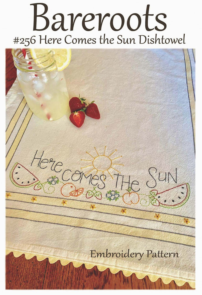 Here Comes the Sun Dishtowel Embroidery Pattern