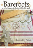 Merry & Bright Embroidery Dishtowel Pattern