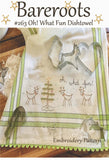 Oh! What Fun Reindeer Dishtowel Embroidery Pattern