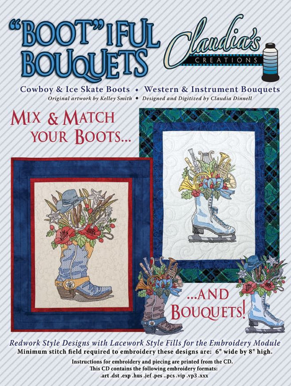 Bootiful Bouquets Cowboy & Ice Skate Boots