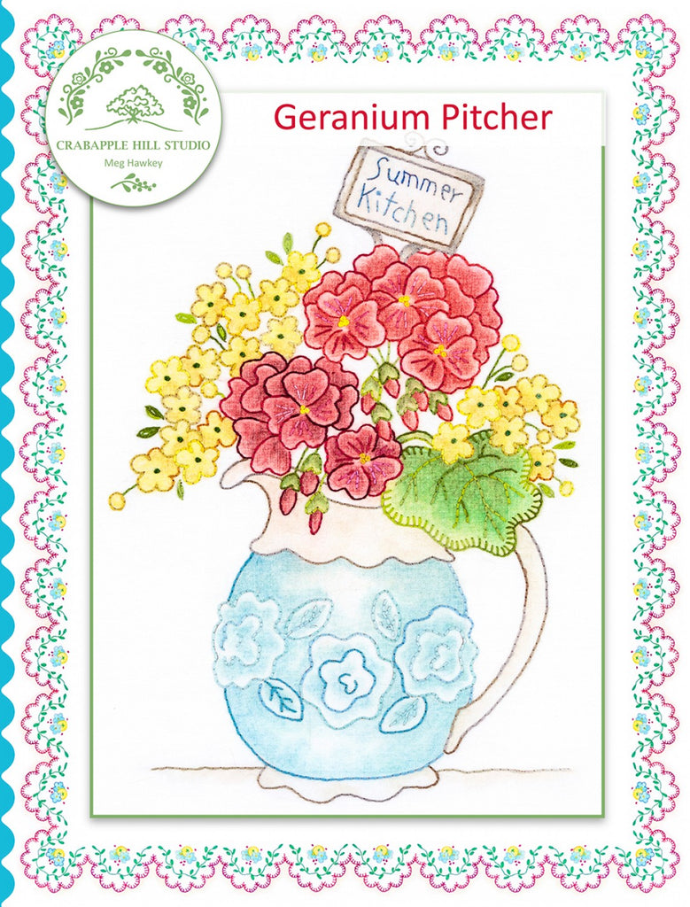 Summer Kitchen 7 Geranium Pitcher