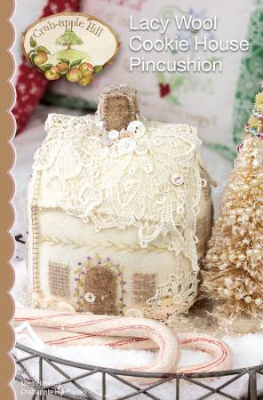 Lacy Wool Cookie House Pincushion