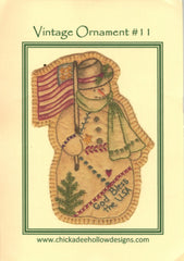 Vintage Christmas Ornament - Snowman
