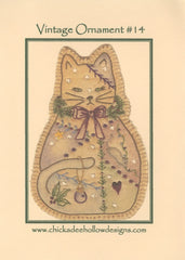 Vintage Christmas Ornament - Kitty