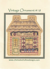 Vintage Christmas Ornament - Quilt Shop