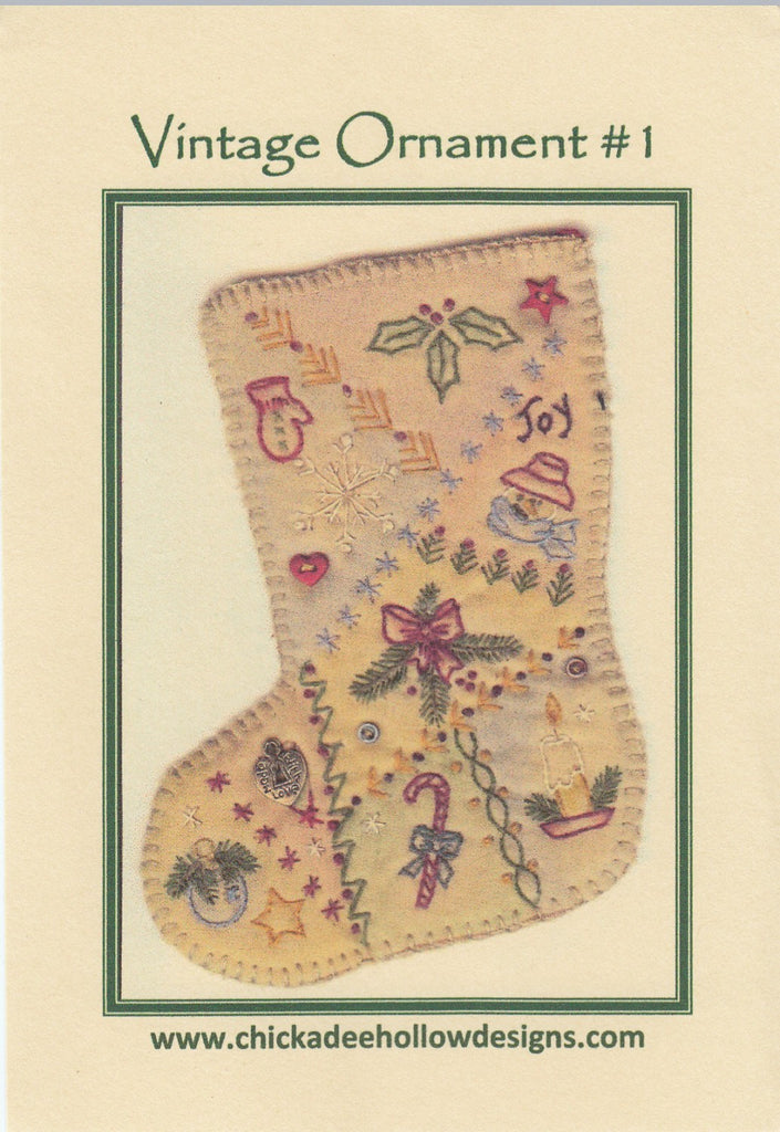 Vintage Christmas Ornament - Stocking