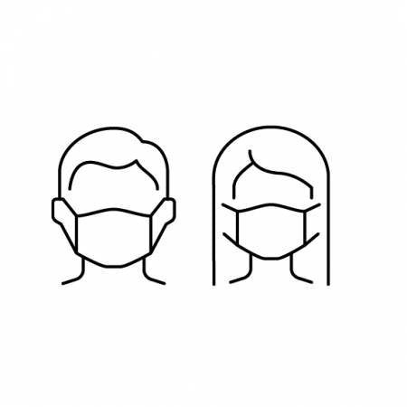 Creative Grids Face Mask Template