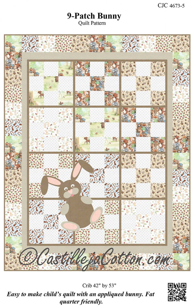 93b40f6868 9 Patch Bunny Pattern – Quilting Books Patterns and Notions