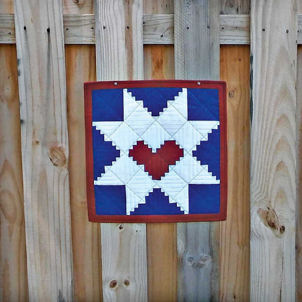 Log Cabin Star Mini Quilt