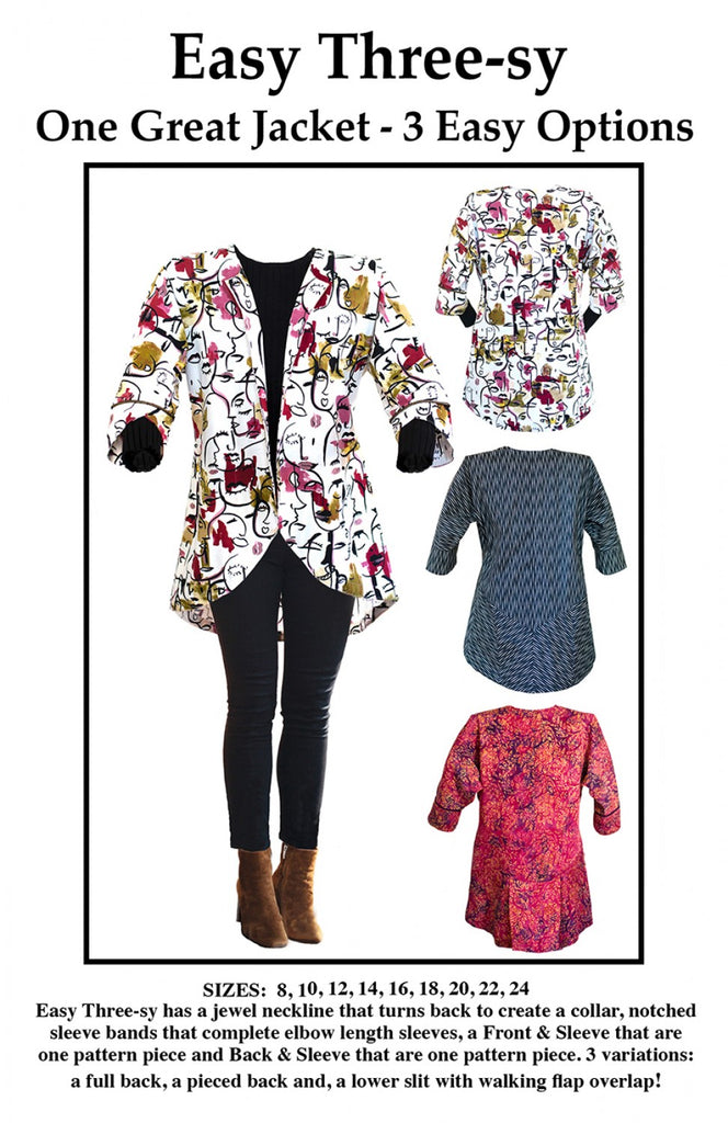 2ad2d5483cf Easy Three-sy Jacket Pattern – Quilting Books Patterns and Notions