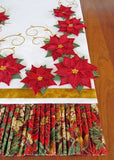 Poinsettia Table Runner Machine Embroidery CD