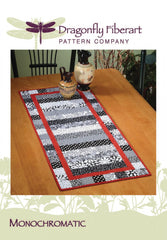 Monochromatic Table Runner Pattern Card
