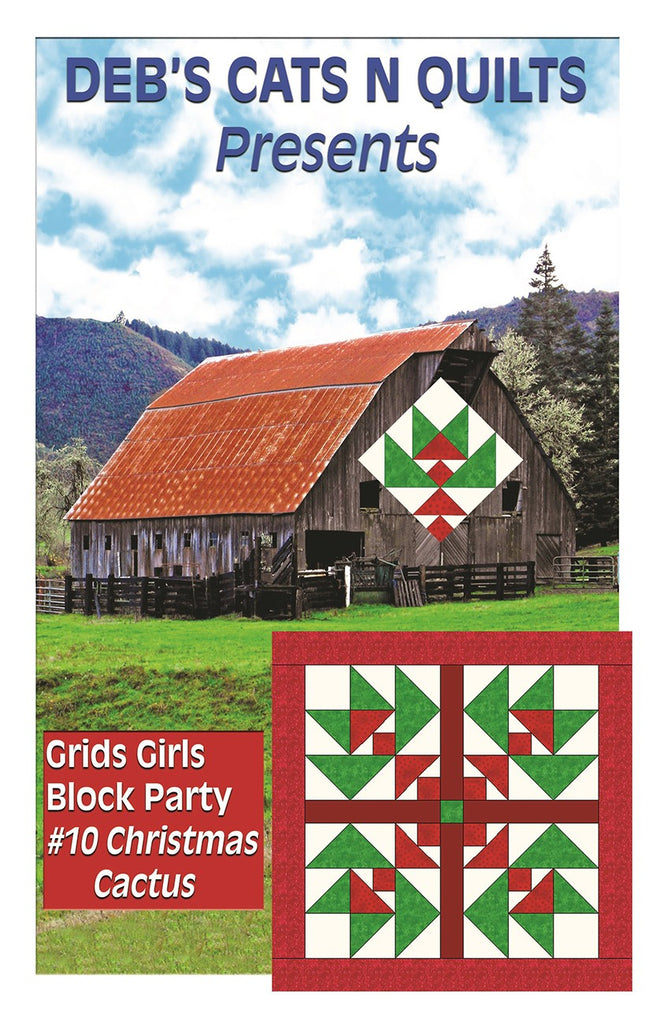 Christmas Cactus Grids Girls Block Party 10
