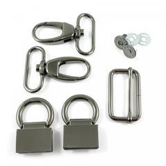 Double Flip Shoulder Bag Hardware Kit Gunmetal