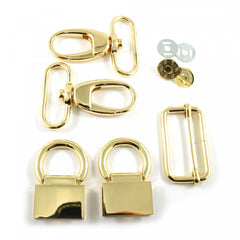 Double Flip Shoulder Bag Hardware Kit Gold