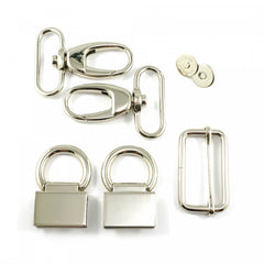 Double Flip Shoulder Bag Hardware Kit Nickel