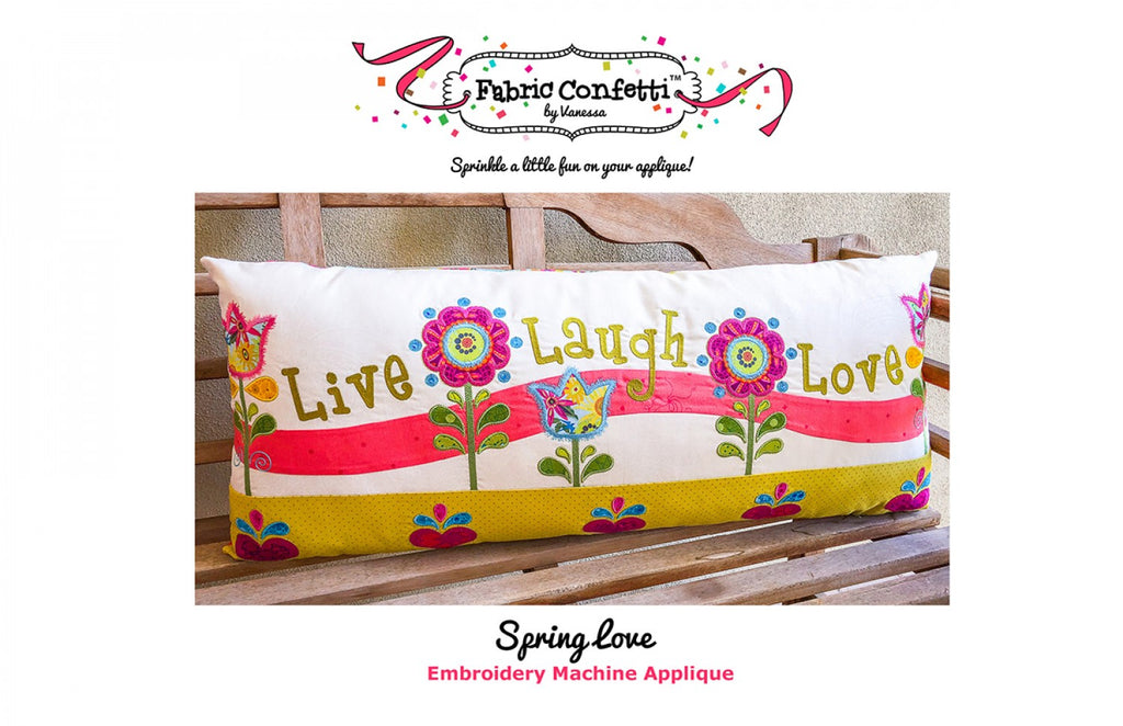 Spring Love Bench Pillow