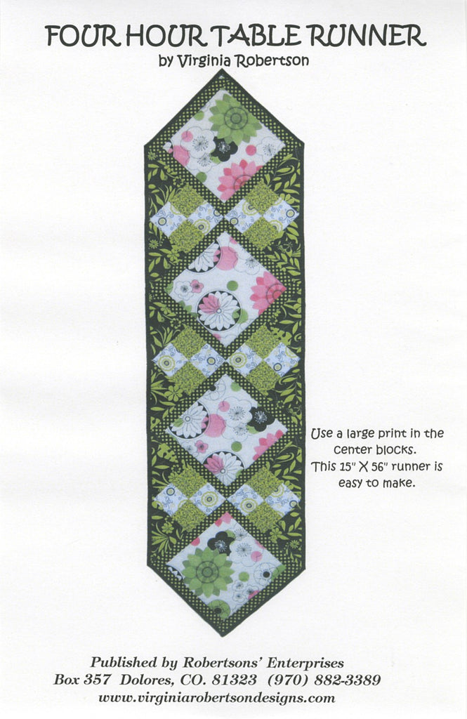 Four Hour Table Runner