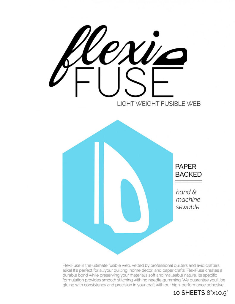 FlexiFuse Lightweight Fusible Web - 10 Sheets 8in x 10-1/2in