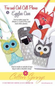 Fox and Owl Cell Phone & Eyeglass Cases