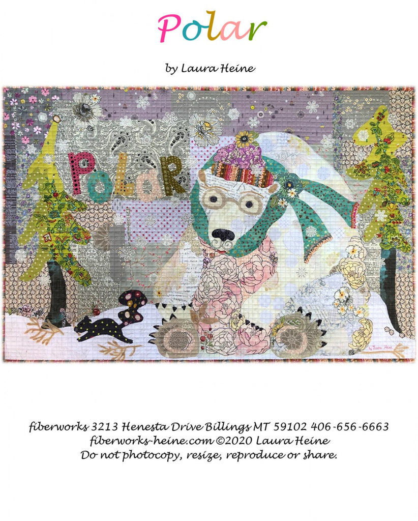Polar.....The Bear Collage Pattern by Laura Heine