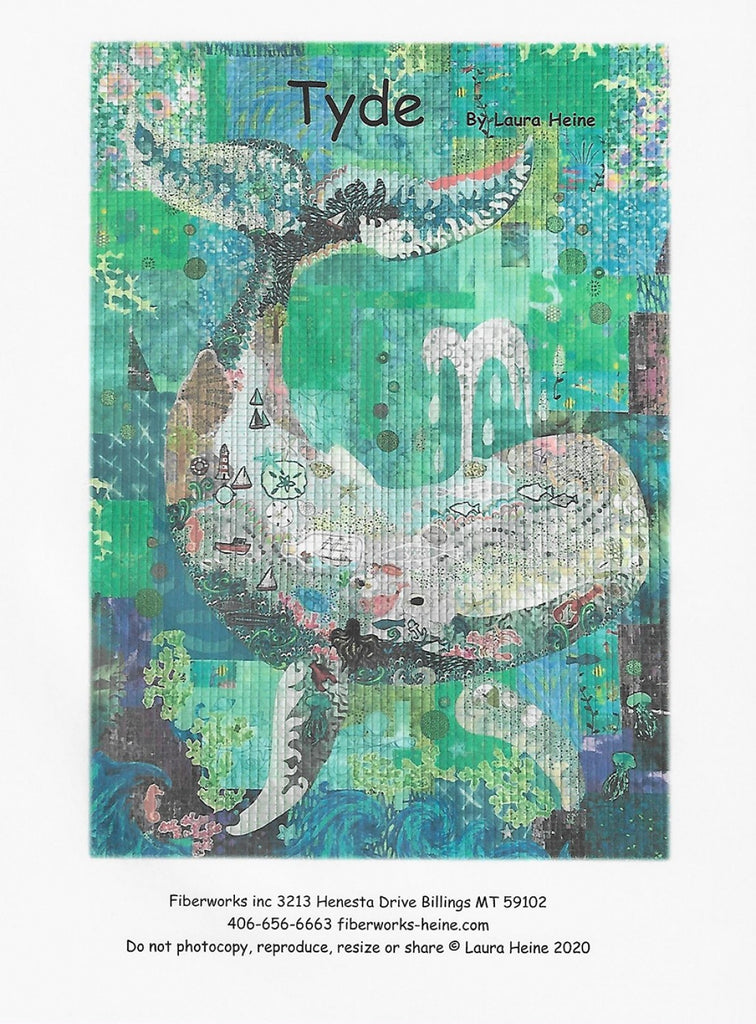 Tyde...The Whale Collage Pattern by Laura Heine