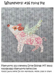 Whatevers! #26 Flying Pig Collage Pattern by Laura Heine