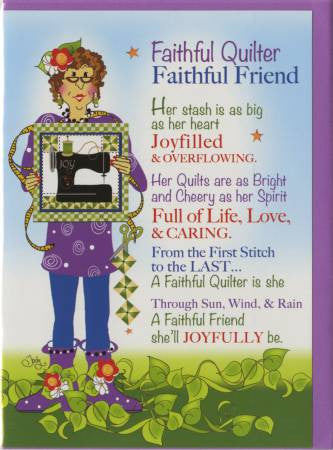 Greeting Card Faithful Quilter