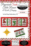 Peppermint Santa Table Runner and Wall Hanging Embroidery CD