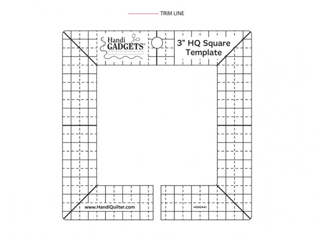 Ruler 3in Square