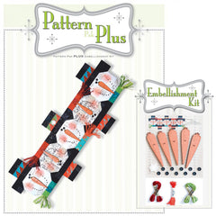 Button Snowman Runner Pattern Pak Plus