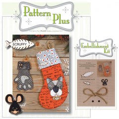 Kitty Stocking & Treat Bag Pattern Plus
