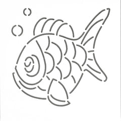 Quilt Stencil Charlie The Fish