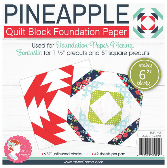 Pineapple 6in Block Foundation Paper Pad