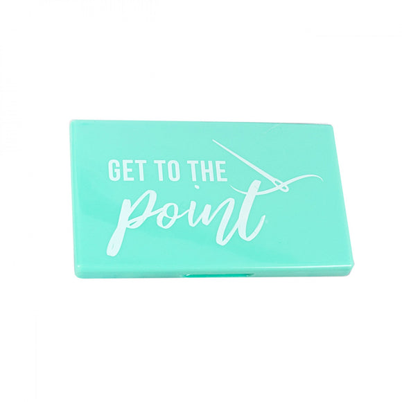 Get To The Point Teal Magnetic Needle Case