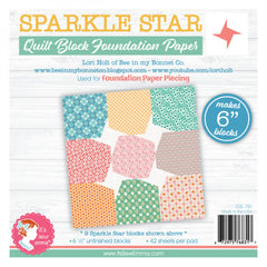 Sparkle Star 6in Block Foundation Paper Pad
