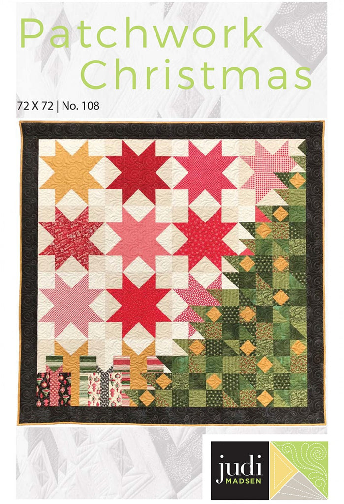 Christmas Quilt Patterns.Patchwork Christmas Quilt Pattern