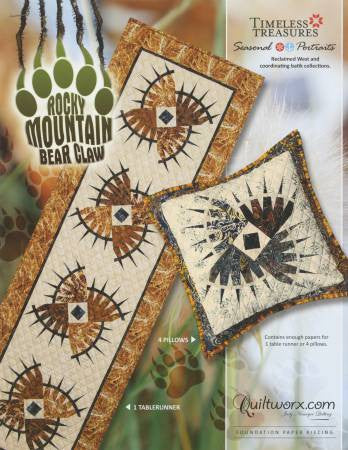 Rocky Mountain Bear Claw Table Runner