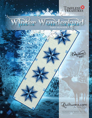 Winter Wonderland Snow Flakes Table Runner - Updated Version