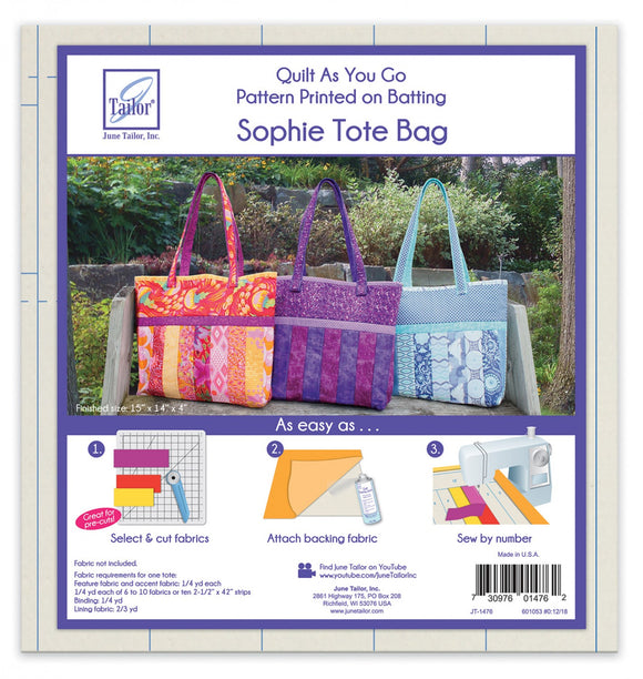Quilt As You Go Tote Sophie Design