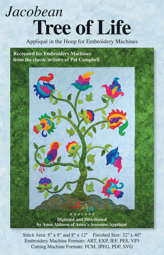 a4a6f1e081fc4 CD Jacobean Tree of Life – Quilting Books Patterns and Notions