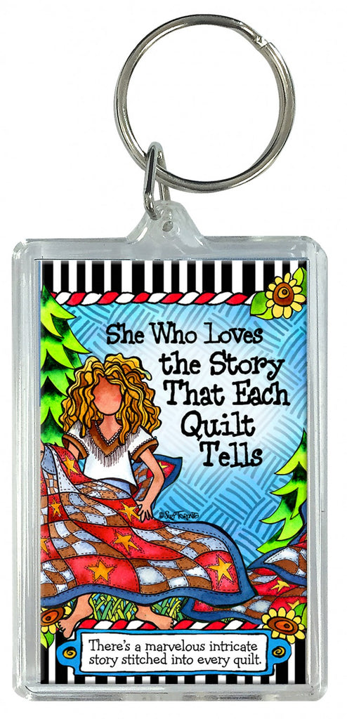 Quilt Story Keychain